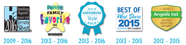Best Veterinarian Mechanicsburg: Simply The Best Veterinarian, Readers' Choice, Best of West Shore, Family Favorites, Best of Harrisburg, Angie's List Super Service Award
